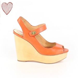 Coach Coral Wedges